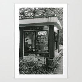 Parking Booth Art Print
