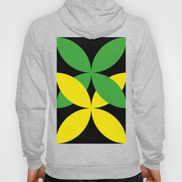 Green Yellow four-leaf clover in a strong deep dark black sky. They are hugging.They love each other Hoody