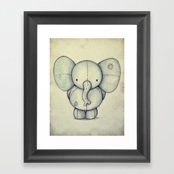Cute Elephant Framed Art Print