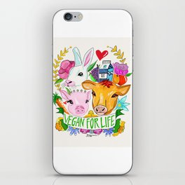 Vegan For Life iPhone Skin