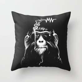 Music And Cigs Throw Pillow