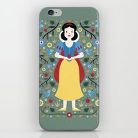 snow white iPhone & iPod Skins featuring Snow White  by Carly Watts