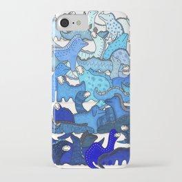 Blue Dinosaur Gradient iPhone Case