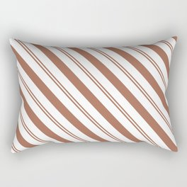 Sherwin Williams Cavern Clay Stripes Thick and Thin Angled Lines Rectangular Pillow