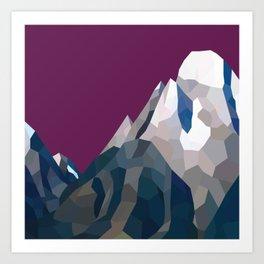 Geo Mountain Range (Part 3) Art Print