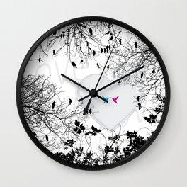 Love in air Wall Clock