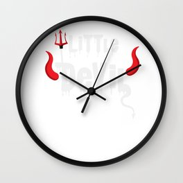 Little Devil Youth Halloween Costume Wall Clock