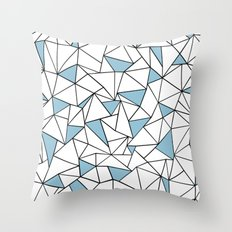 Ab Out Blue Blocks Throw Pillow