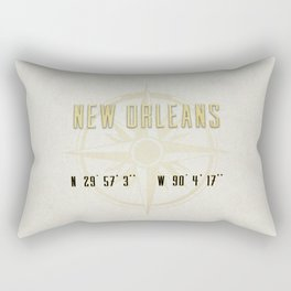 New Orleans - Vintage Map and Location Rectangular Pillow