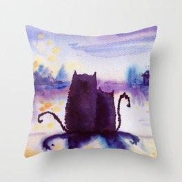 violet dreams Throw Pillow