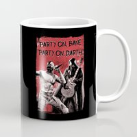 bane Mugs featuring Party on, Bane by The Cracked Dispensary