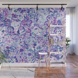 Blue and Purple Blobs Wall Mural