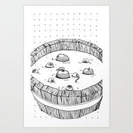 Barrel full of Eyes Art Print