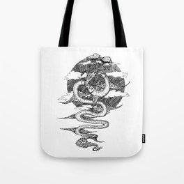 Sky Dragon Tote Bag
