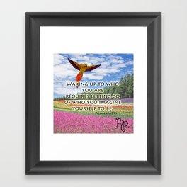 """Posh Parrot """"Waking up"""" Parrot Framed Art Print"""
