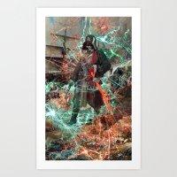 Darth Pirate Vader Art Print