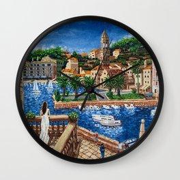 Port of Hvar, Croatia Wall Clock