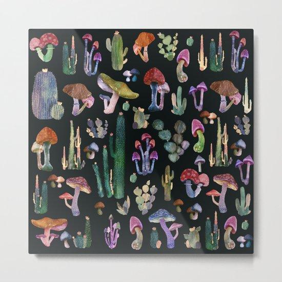 cactus and mushrooms Metal Print
