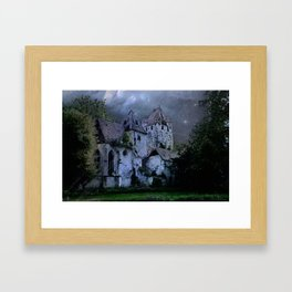 Darkness Halloween Castle Framed Art Print