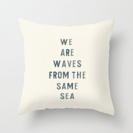 Waves From The Same Sea Throw Pillow