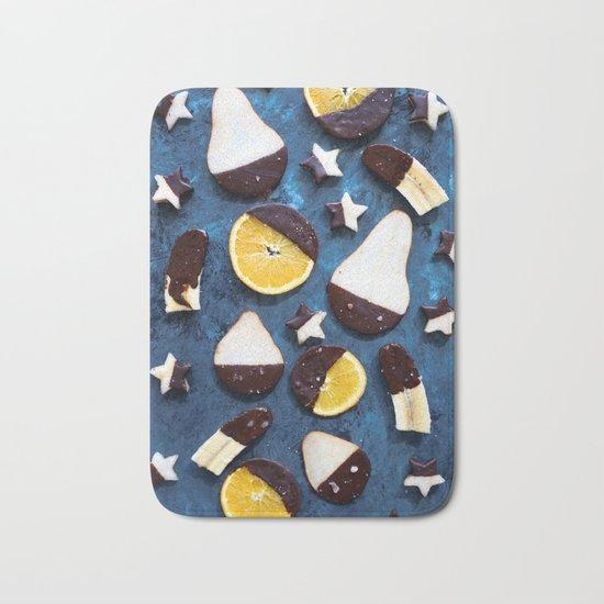fruits dipped in chocolate Bath Mat