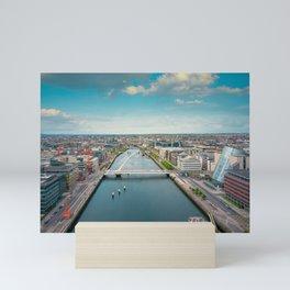 Aerial view of Dublin city center Mini Art Print