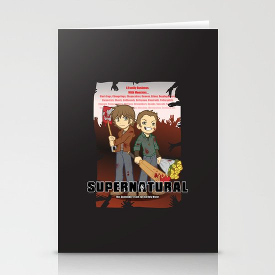 Supernatural - Goin to the Winchesters Stationery Cards