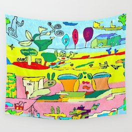 pic nic under the tree Wall Tapestry