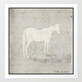 Dot Horse Art Print