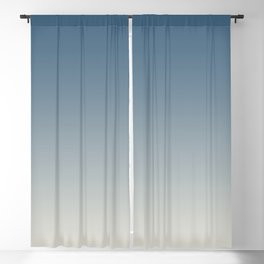 Blue & Linen White Gradient Ombre Blend Pairs To 2020 Color of the Year Chinese Porcelain PPG1160-6 Blackout Curtain