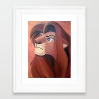 simba Framed Art Prints featuring Simba by Jgarciat
