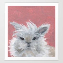 Fluffy rabbit Art Print