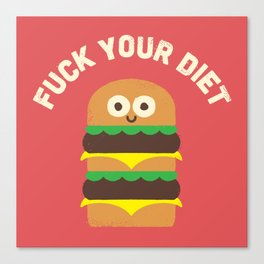 Discounting Calories Canvas Print