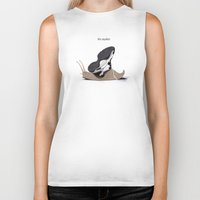 sneaker Biker Tanks featuring The Sneaker by rob art | illustration