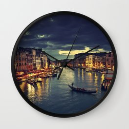 Venise by night Wall Clock