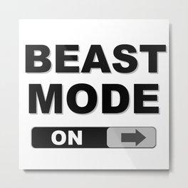 Slide to Unlock Beast Mode Metal Print