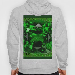 EMERALD GREEN MAY GEM BIRTHSTONE MODERN ART DESIGN Hoody