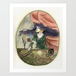 The Erl Witch at Work Art Print