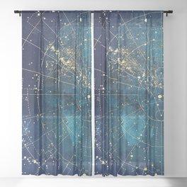 Star Map :: City Lights Sheer Curtain
