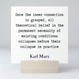 31    Karl Marx Quotes   190817 Mini Art Print
