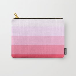 Pastel Pink Stripes. Carry-All Pouch