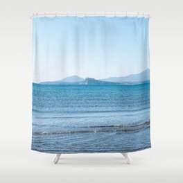 Blue sea in the Bay of Naples Shower Curtain