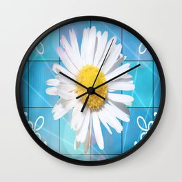 Large Daisey Wall Clock