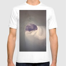 Hole in the ice White MEDIUM Mens Fitted Tee