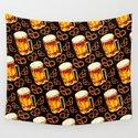 Beer & Pretzel Pattern - Black by kellygilleran