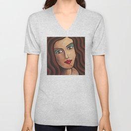 Middle East Woman Unisex V-Neck