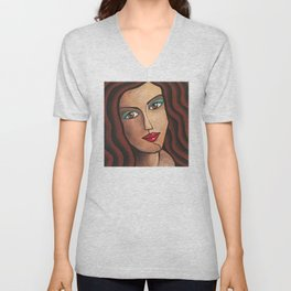 Middle Eastern Woman Unisex V-Neck