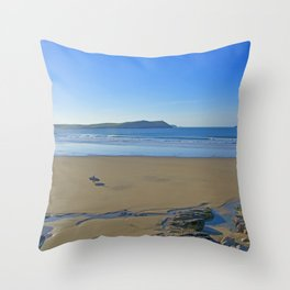 The Lone Surfer Throw Pillow