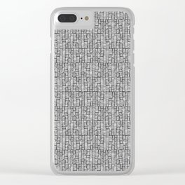 Line Texture, Black Clear iPhone Case