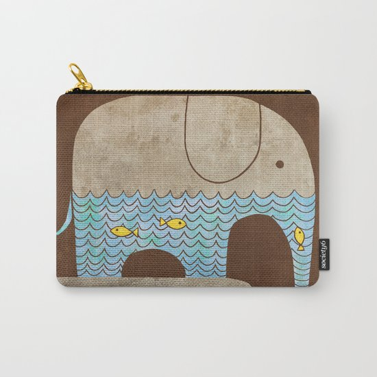 Thirsty Elephant - colour option Carry-All Pouch